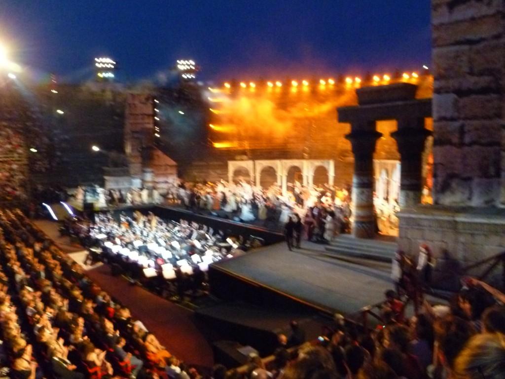 Opera in Verona - a magnificent Carmen - warm summer evening