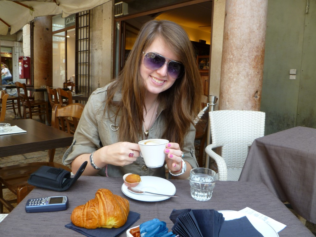 Verona - the best cappuccino and cornetto