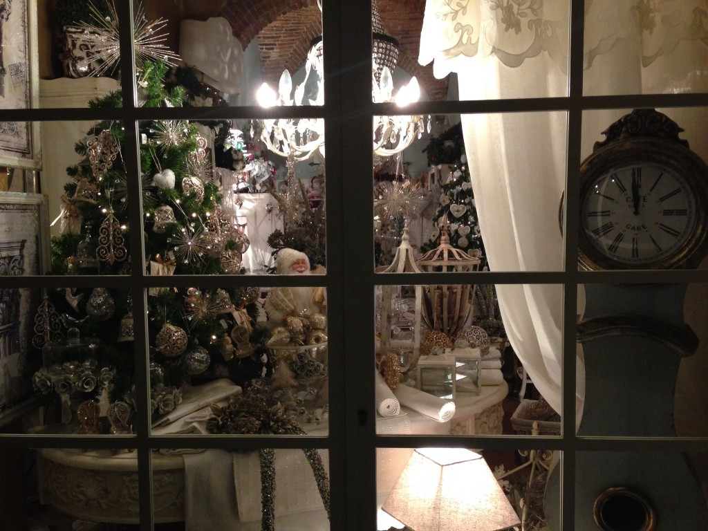 Christmas window in Arezzo, Tuscany.