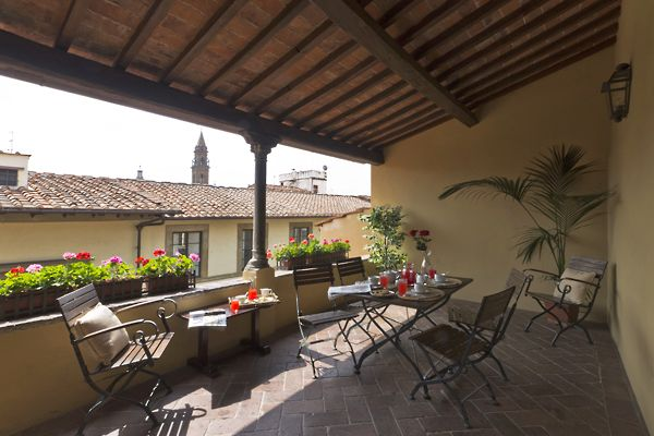 Florence - sit on this lovely terrace and enjoy the rooftops of Florence